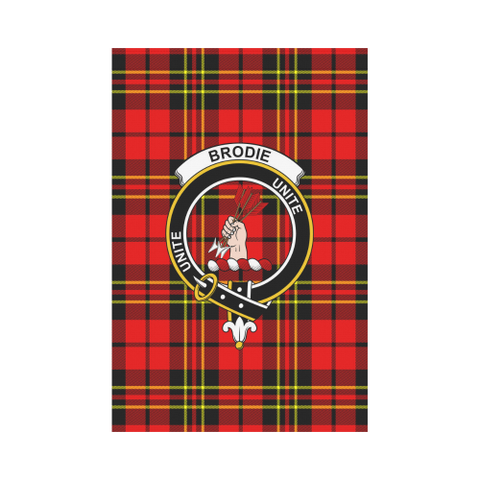 Garden Flag | Tartan Brodie Modern Flag | 2 Sizes Clan Badge