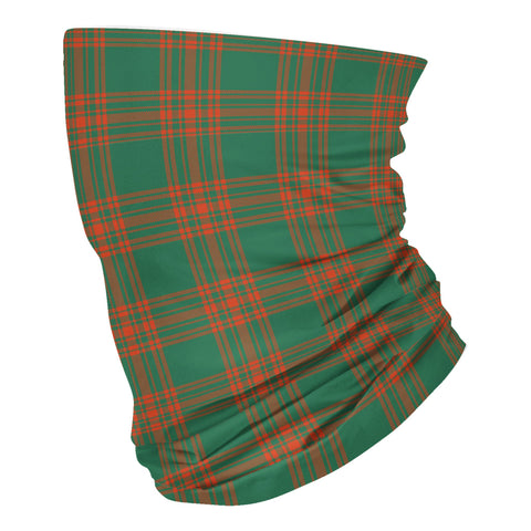 Scottish Menzies Green Ancient Tartan Neck Gaiter  (USA Shipping Line)