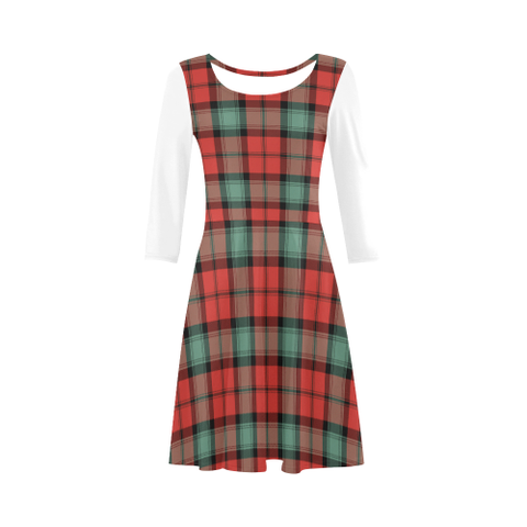 Kerr Ancient Tartan 3/4 Sleeve Sundress | Exclusive Over 500 Clans