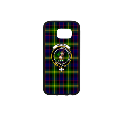 Watson Tartan Clan Badge Rubber Phone Case
