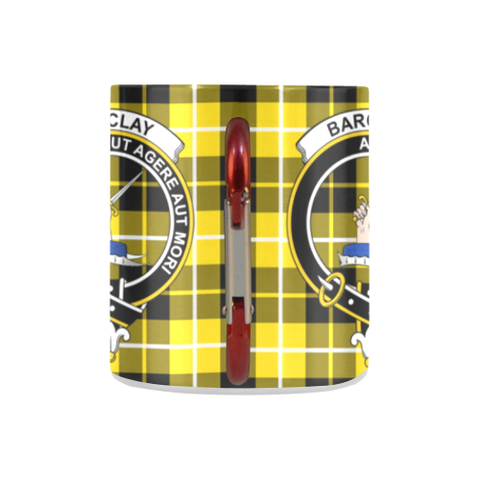 ScottishShop Insulated Mug - Barclay Dress Modern Tartan Insulated Mug - Clan Badge