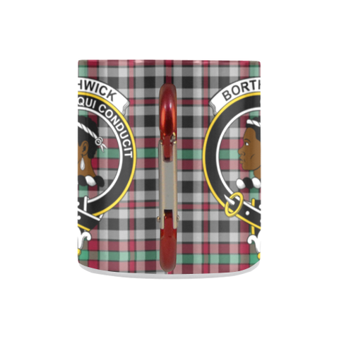 ScottishShop Insulated Mug - Borthwick Ancient Tartan Insulated Mug - Clan Badge