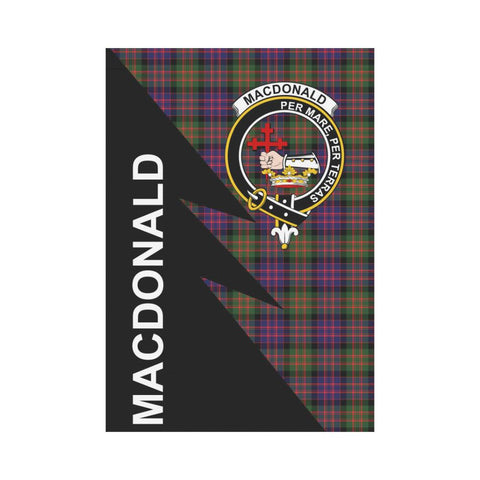 Garden Flag - Clan MacDonald (Clan Donald) Plaid & Crest Tartan Flag - 3 Sizes - Flash Style