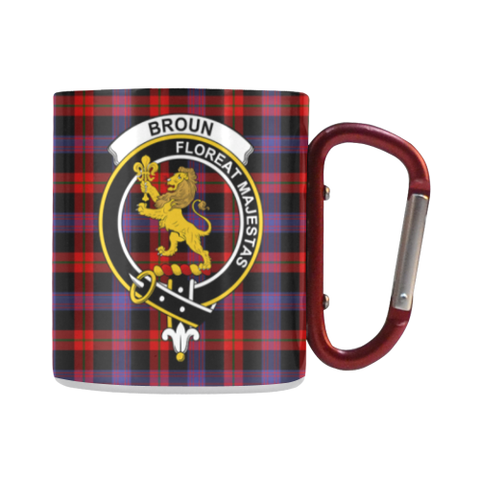 Broun Modern  Tartan Mug Classic Insulated - Clan Badge