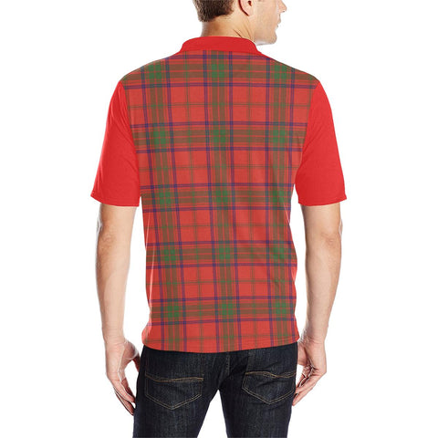 Image of Tartan Polo - Ross Plaid Mens Polo Shirt - Clan Crest