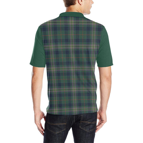 Image of Tartan Polo - Kennedy Plaid Mens Polo Shirt - Clan Crest