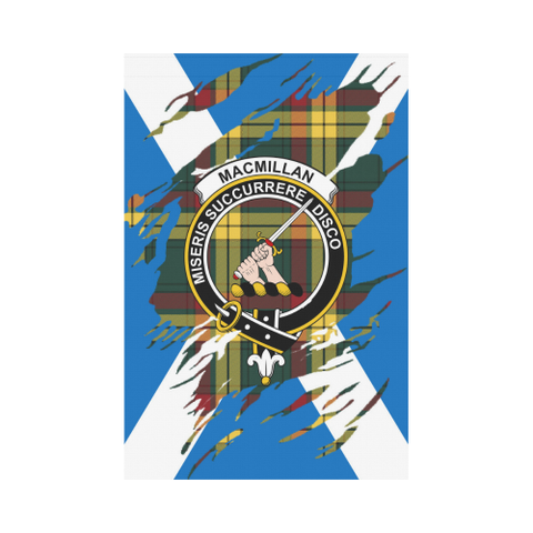 Garden Flag | Tartan Macmillan Lives In Me Flag | 2 Sizes
