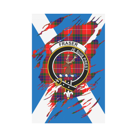 Garden Flag | Tartan Fraser (Of Lovat) Lives In Me Flag | 2 Sizes