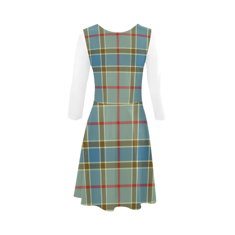 Balfour Blue Tartan 3/4 Sleeve Sundress | Exclusive Over 500 Clans