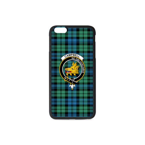 Campbell 01 Tartan Clan Badge Rubber Phone Case