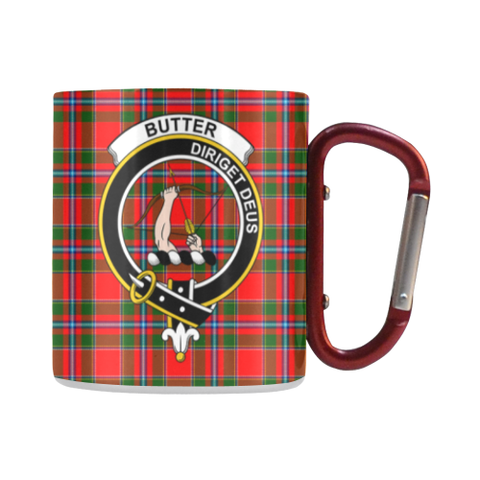 Butter  Tartan Mug Classic Insulated - Clan Badge
