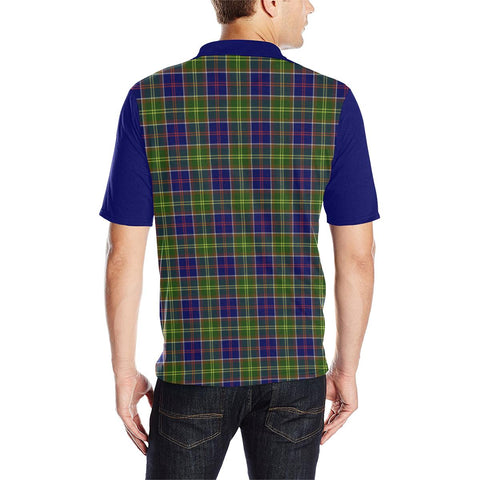 Image of Tartan Polo - Dalrymple Plaid Mens Polo Shirt - Clan Crest