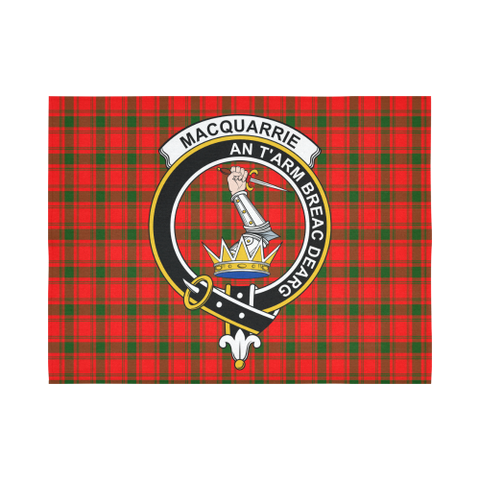 Image of Macquarrie Modern Tartan Tapestry Clan Crest