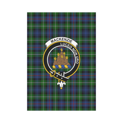 Garden Flag | Tartan Mackenzie Modern Flag | 2 Sizes Clan Badge