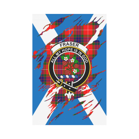 ScottishShop Garden Flag - Tartan Fraser Lives In Me Flag