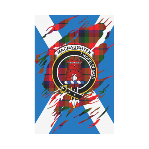 Garden Flag | Tartan Macnaughten Lives In Me Flag | 2 Sizes
