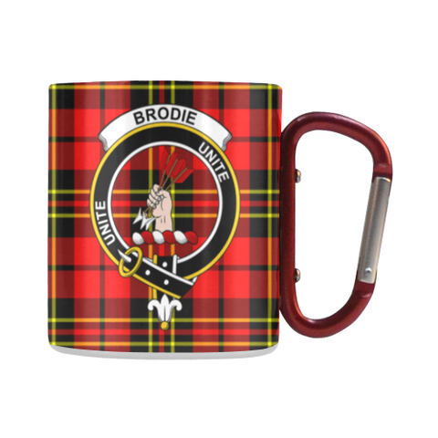 Brodie Modern  Tartan Mug Classic Insulated - Clan Badge