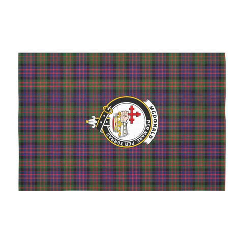 ScottishShop Tartan Tablecloth - McDonald (Clan Donald) Tablecloth with Crest