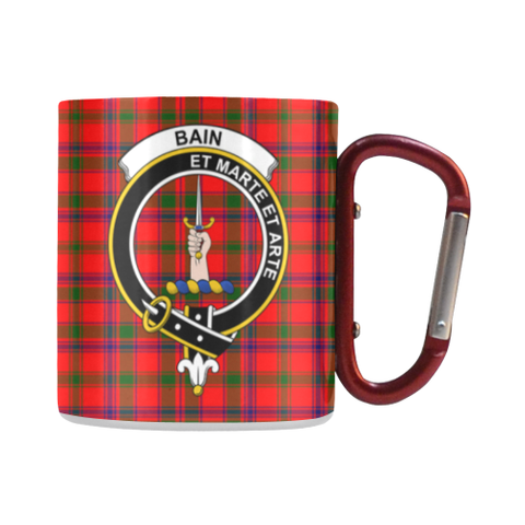Bain  Tartan Mug Classic Insulated - Clan Badge