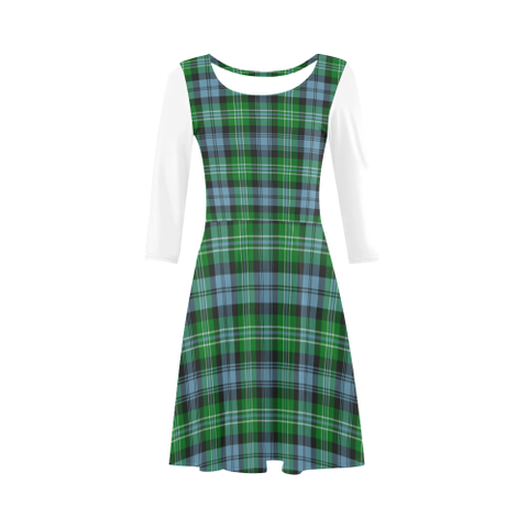 Arbuthnot Ancient Tartan 3/4 Sleeve Sundress | Exclusive Over 500 Clans
