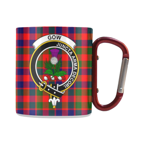 Gow Of Skeoch Tartan Mug Classic Insulated - Clan Badge