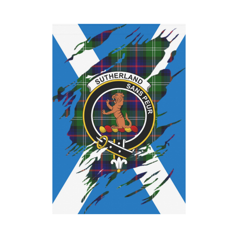 ScottishShop Garden Flag - Tartan Sutherland Ii Lives In Me Flag
