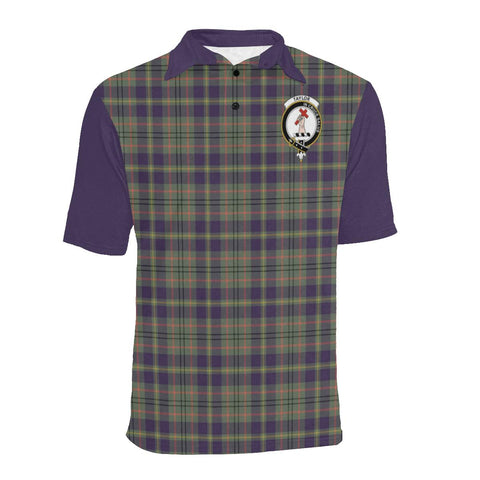 Image of Tartan Polo - Taylor Plaid Mens Polo Shirt - Clan Crest