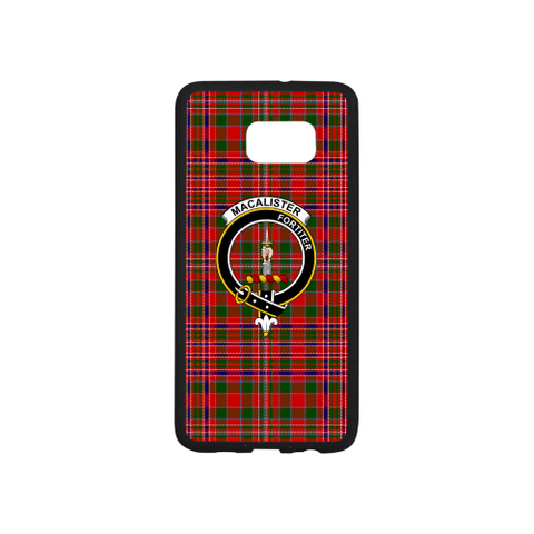 Macalister Tartan Clan Badge Rubber Phone Case