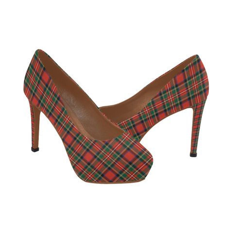 Image of Stewart Royal Modern Tartan High Heels, Stewart Royal Modern Tartan Low Heels
