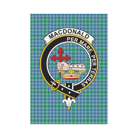 Image of Garden Flag | Tartan Macdonald Lord Of The Isle Flag | 2 Sizes Clan Badge