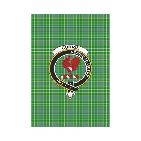ScottishShop Garden Flag - Tartan Currie Flag  Clan Badge