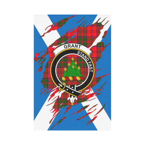 ScottishShop Garden Flag - Tartan Grant Lives In Me Flag