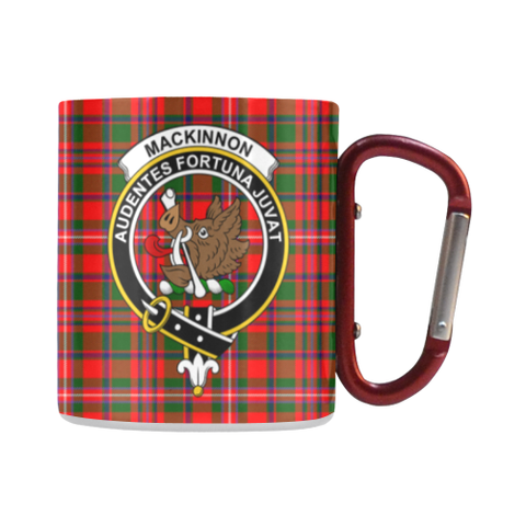 Mackinnon Modern Tartan Mug Classic Insulated - Clan Badge