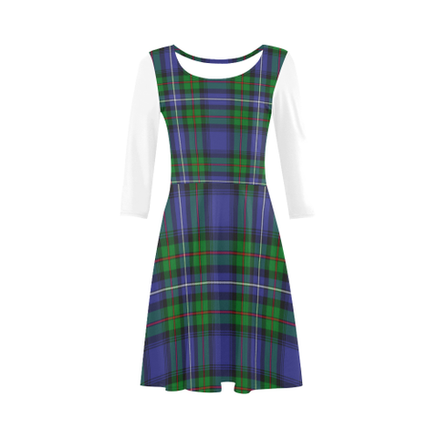 Robertson Hunting Modern Tartan 3/4 Sleeve Sundress | Exclusive Over 500 Clans