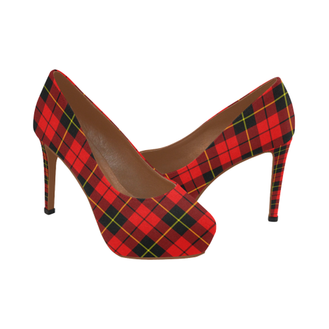Image of Wallace Hunting - Red Tartan High Heels, Wallace Hunting - Red Tartan Low Heels