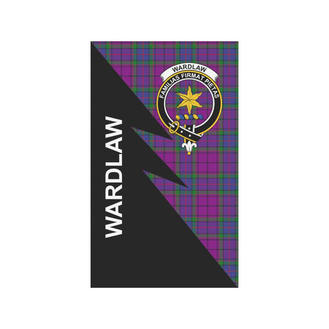 Garden Flag - Clan Wardlaw Plaid & Crest Tartan Flag - 3 Sizes - Flash Style