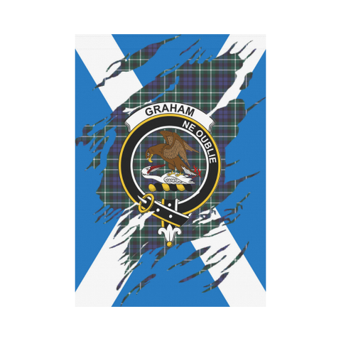 Garden Flag | Tartan Graham Lives In Me Flag | 2 Sizes