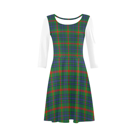 Image of Aiton Tartan 3/4 Sleeve Sundress | Exclusive Over 500 Clans