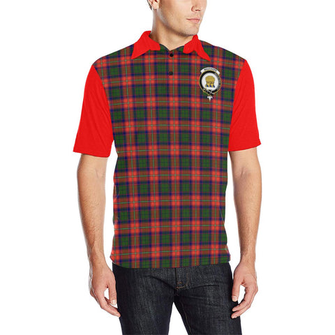 Image of Tartan Polo - Wauchope (or Waugh) Plaid Mens Polo Shirt - Clan Crest