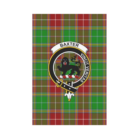 Image of Garden Flag | Tartan Baxter Modern Flag | 2 Sizes Clan Badge