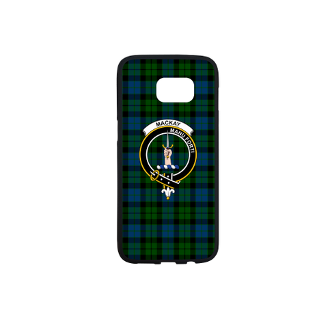 Mackay Tartan Clan Badge Rubber Phone Case