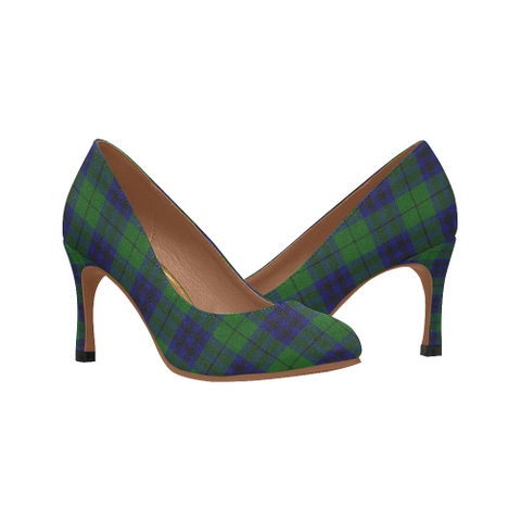 Keith Modern Plaid Heels