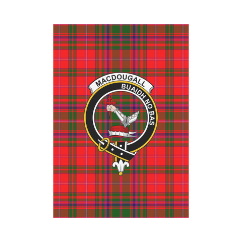 Image of ScottishShop Garden Flag - Tartan Macdougall Flag  Clan Badge