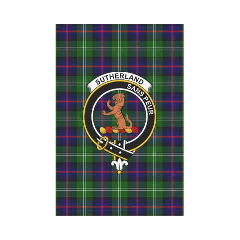 ScottishShop Garden Flag - Tartan Sutherland Ii Flag  Clan Badge