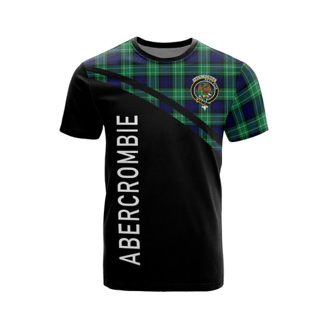 Tartan Shirt - Abercrombie Clan Tartan Plaid T-Shirt Curve Version Front