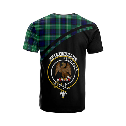 Tartan Shirt - Abercrombie Clan Tartan Plaid T-Shirt Curve Version Back