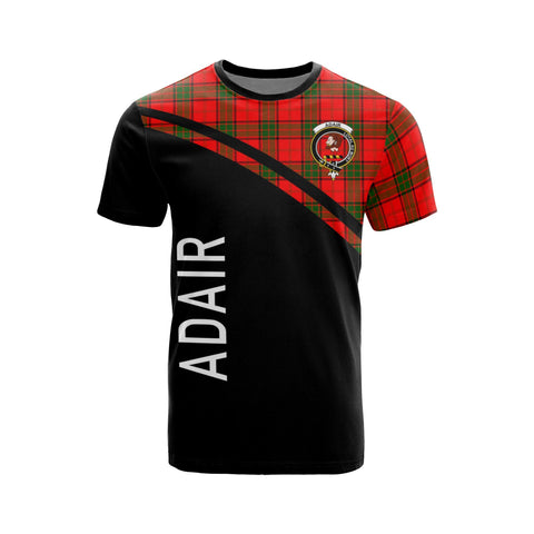 Tartan Shirt - Adair Clan Tartan Plaid T-Shirt Curve Version Front
