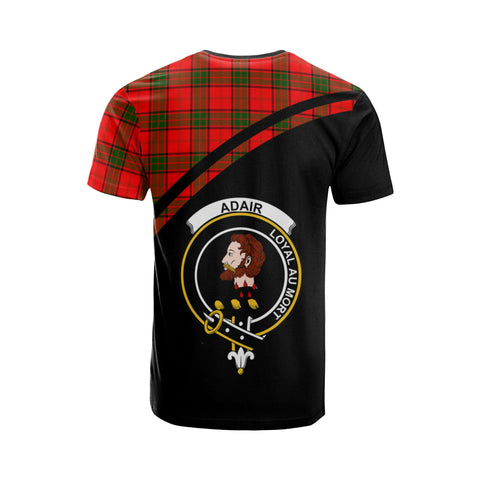 Tartan Shirt - Adair Clan Tartan Plaid T-Shirt Curve Version Back