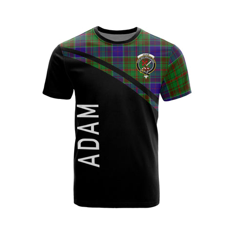 Image of Tartan Shirt - Adam Clan Tartan Plaid T-Shirt Curve Version Front