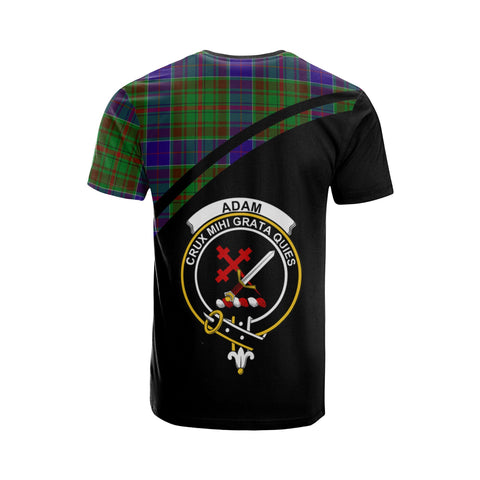Tartan Shirt - Adam Clan Tartan Plaid T-Shirt Curve Version Back